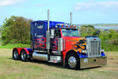 Paul took his friend's Peterbilt 370 to the Waterford Truck Show