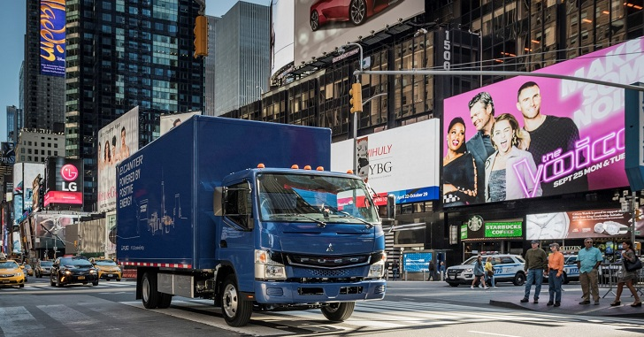 Fuso eCanter launched in New York - Truckanddriver co uk