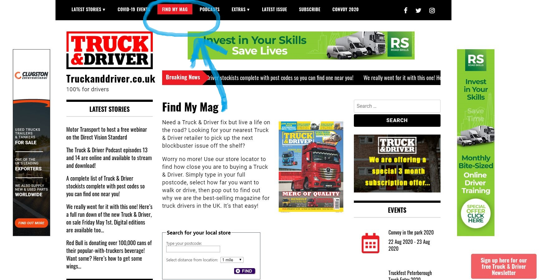 Our June Issue With Free Thanks Truckers Poster Is On The Shelves For Just Three More Days You Can Also Buy Copies From Our New Ebay Store Truckanddriver Co Uk